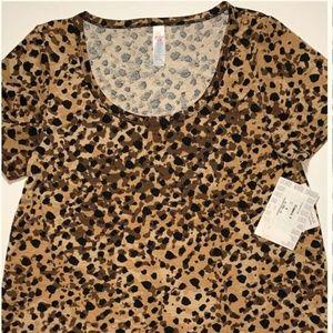NWT Lularoe Medium Brown Cheetah Print Classic T